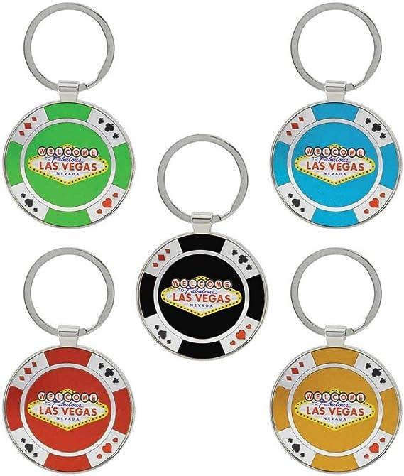 Schlüsselanhänger Las Vegas Casino Poker Chip Wichtigsten Ketten 5 Stück Bürobedarf Schreibwaren