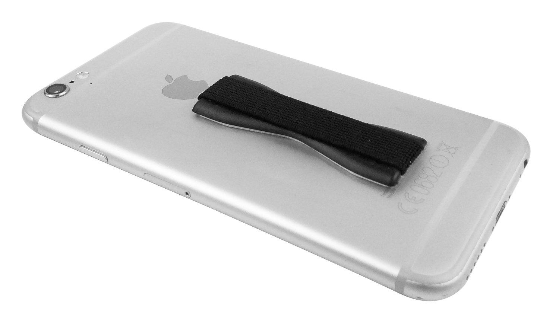 THEVERY Agarre elástico para Smartphone - sujeción para Dedos - para iPad, Samsung Galaxy S6, Sony Xperia etc en Negro