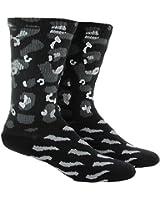 Adidas Men's Reflective Crew Socks, Cheetah, 6-12