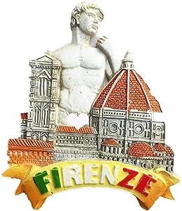 Fridge Magnet David Firenze Italy 3D Resin Handmade Craft Tourist Travel City Souvenir Collection Letter Refrigerator Sticker