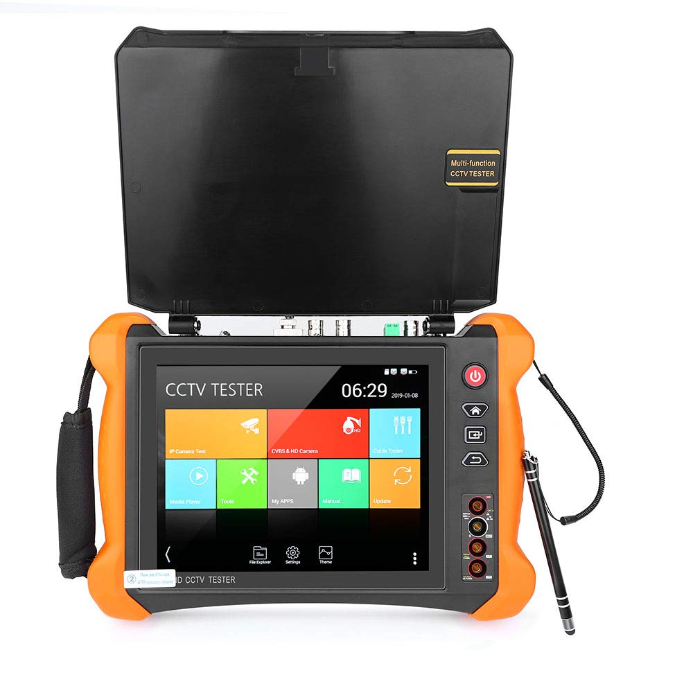 Yblntek 8 Inch All in One 1080p Retina Display IP Camera Tester Security CCTV Tester with SDI/TVI/AHD/CVI/Multimeter/TDR/OPM/VFL/POE/WIFI/4K H.265/HDMI Input and Output/Firmware Update X9-MOVTADHS
