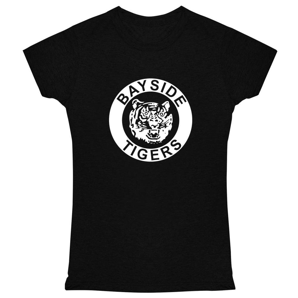 Bayside High School Tigers Black 2XL Womens Tee Shirt