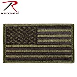 Olive Drab US Regular Flag Patch with Hook Loop Closure