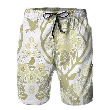 Aeykis Flores Plantas Pantalones Holgados de Playa para Hombre ...