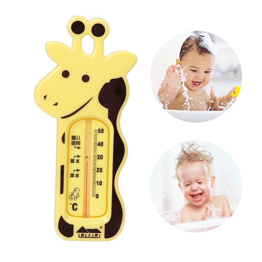 lindo term/ómetro de jirafa amarilla MIsha Termometro ba/ño bebe Term/ómetro de interior Term/ómetro para habitaci/ón y ba/ño