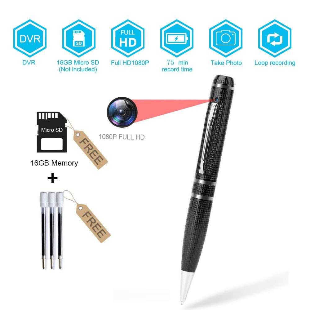 BSTCAM PVC-1080DVR 16GB Pen Hidden Camera for Window Mac -16GB SD Card, Pen Cam, User manual -Black Clolor