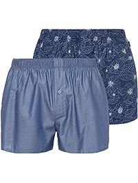 Hanro Mens Fancy Woven Boxer 2-Pack Boxer Shorts