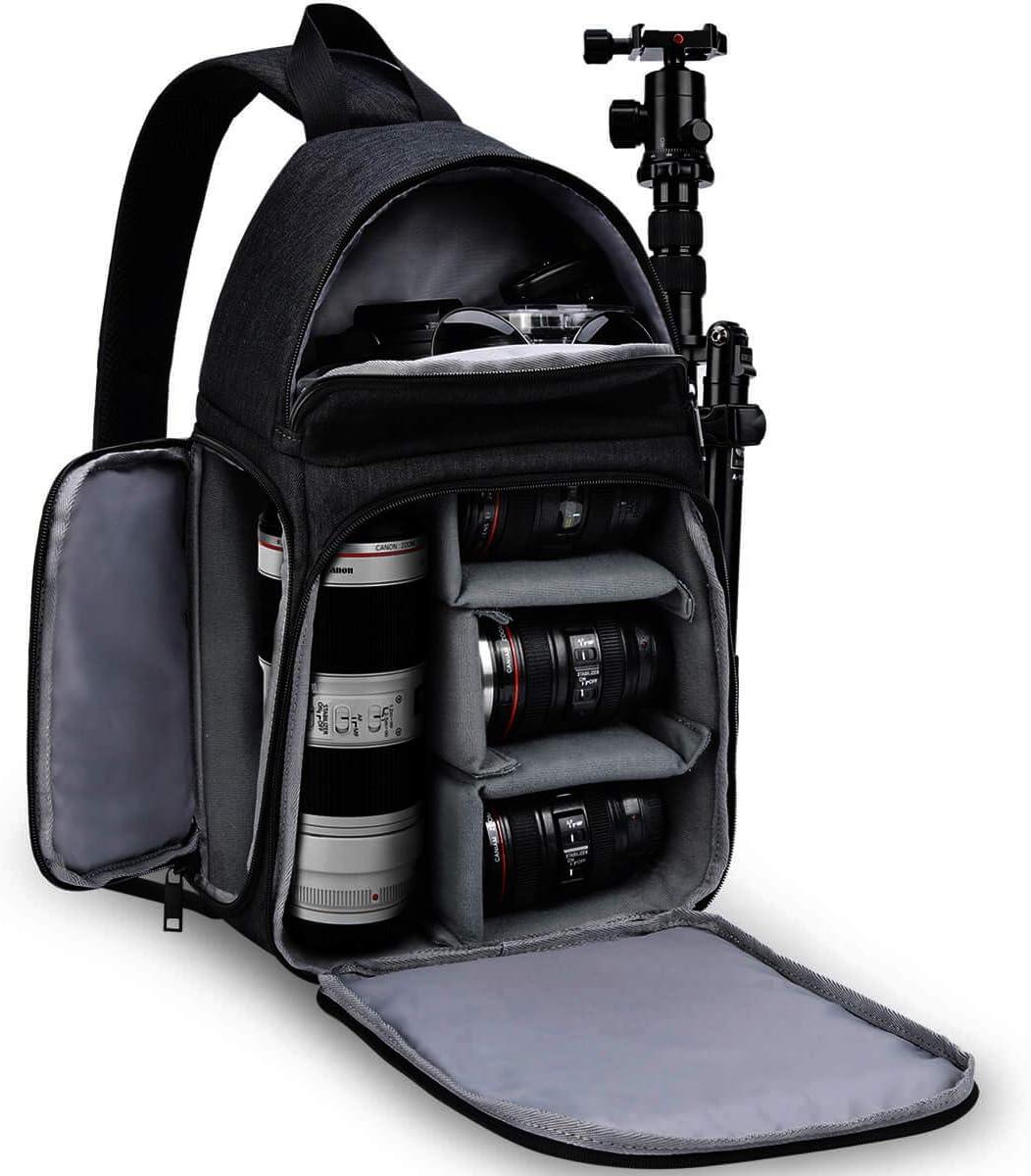 Amazon Com Caden Camera Bag Sling Backpack Camera Case Waterproof With Modular Inserts Tripod Holder For Dslr Slr And Mirrorless Cameras Canon Nikon Sony Pentax Black Camera Photo
