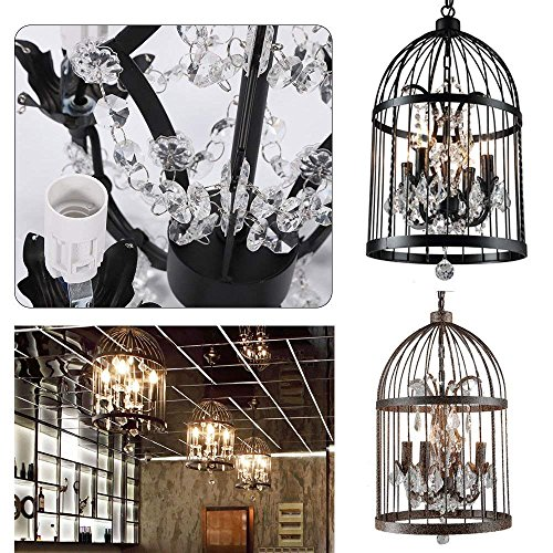Black Bird Cage Pendant Light in US - 5