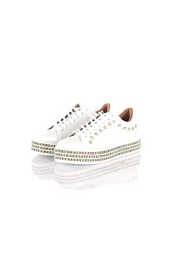 huge discount 7616d 5f3ba Amazon.com | Twin-Set Sneakers Donna 39 Bianco 191tcp166 ...