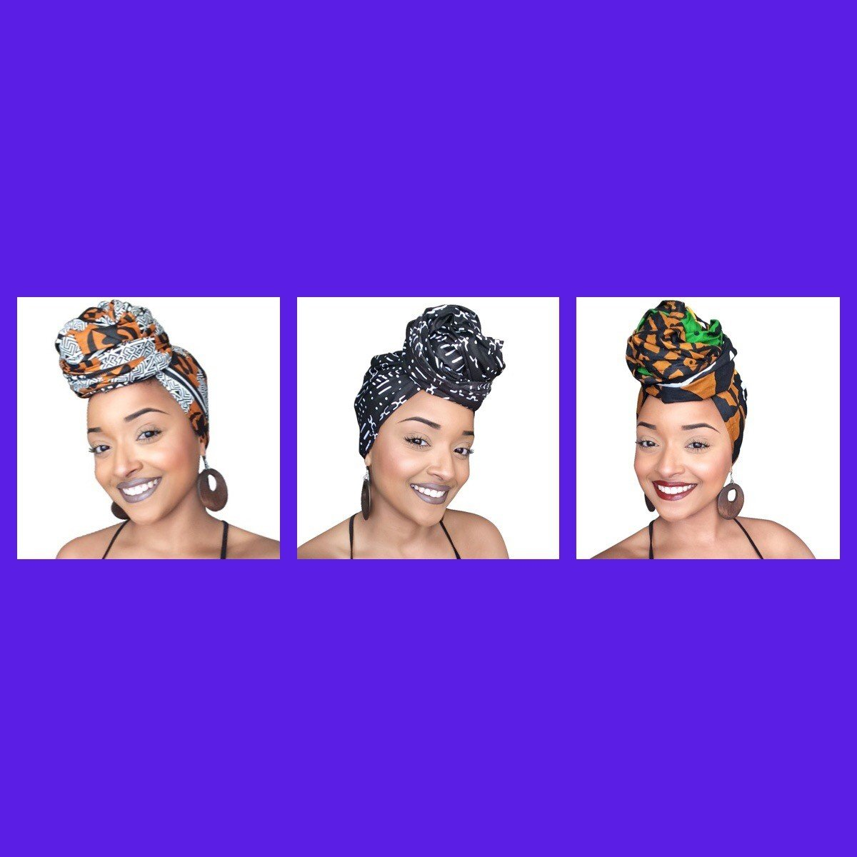 NEGASI (Royalty) African Headwrap Collection ( 3 headwraps) by Glamorous Chicks Cosmetics (Image #1)