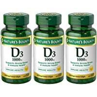 Nature's BountyVitamin D3 1000 100 mg, 120 Softgels (Pack of 3)