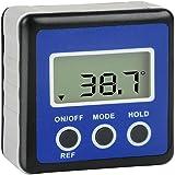 Yahee Digitale Winkelmesser Neigungsmesser Wasserwaage Messgerät, magnetisch, inkl. Tasche Blau