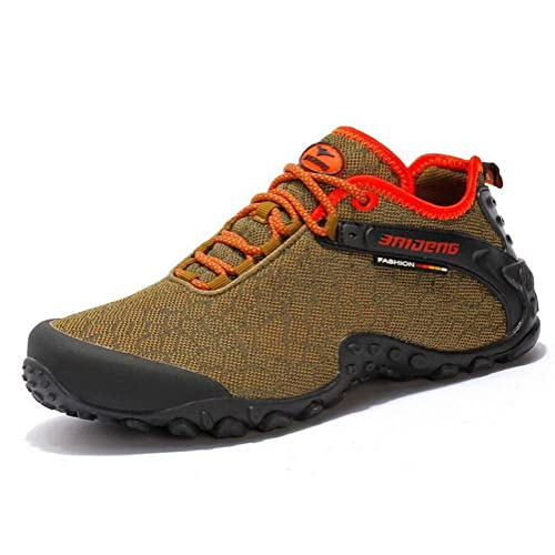 7a6a0ac43867d Suetar Hombre Mujer Transpirable Ligero y Antideslizante Zapatos de  Senderismo Verano y otoño Moda al Aire Libre Malla de Tela Zapatillas   Amazon.es  ...