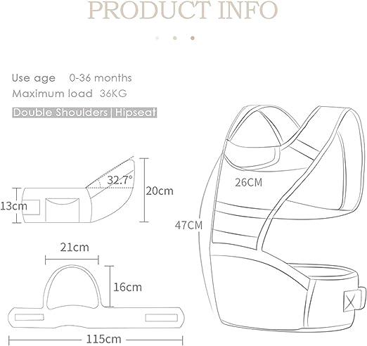 SONARIN 360 /° respirable Premium Hipseat Baby Carrier Portador de beb/é,Ergon/ómico,Bolso de la momia,Respaldo de malla transpirable,Adaptado al crecimiento de su hijo,Ideal Regalo Rosado