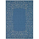 Safavieh Courtyard Collection CY5139C Blue and Beige Indoor/Outdoor Area Rug (4′ x 5'7″)