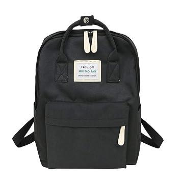 Amazon.com: Nylon Waterproof Women Backpack Fashion Youth Laptop Backpack SchoolBags for Teenage Girls Boys travel Bag,Black