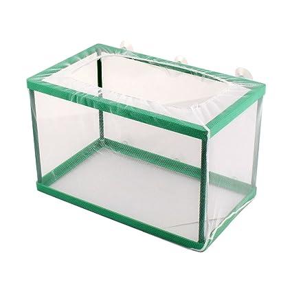 sourcingmap® Para Acuario pecera flotante de la caja de larvas de camarón Cría jaula de