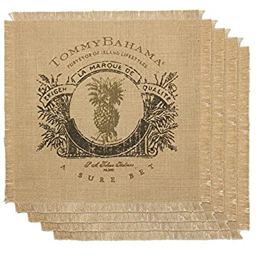 Tommy Bahama Sure Bet Placemat, Natural, 4-Pack