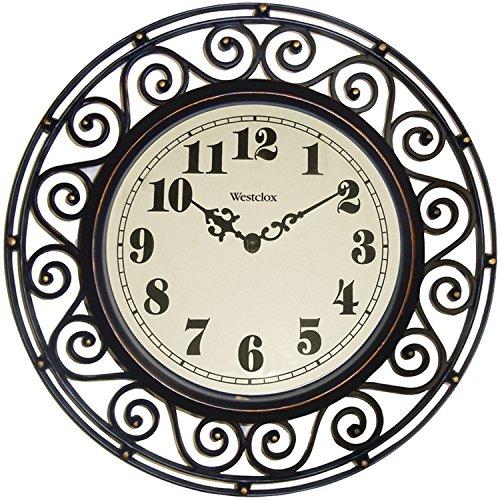 WESTCLOX, Clock Wall Wrought Iron Style, EA