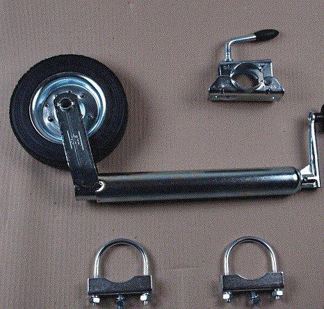 WAMO Stü tzrad mit Halterung und Zugrohrbefestigung Hergestellt für WAMO Technik Shop