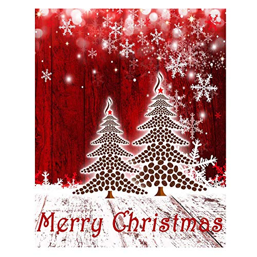 Merry Christmas Tree Winter Snowflake Pine Double Sided House Flag Garden Banner 28