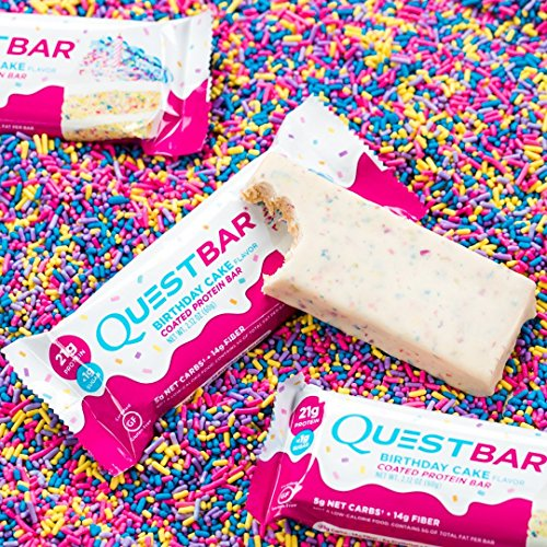 Quest Protein Birthday Cake 12 Bday Bars 21 G 14 Fiber