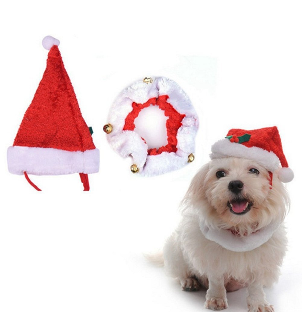 Christmas Hats For Dogs.Demarkt Christmas Hats For Dogs Christmas Decorations