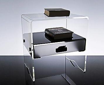 Slato mesilla de Noche Mesa de Noche con un cajón diseño ...
