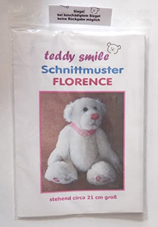 teddy smile - Schnittmuster Teddy Florence - 21 cm - mit Anleitung ...