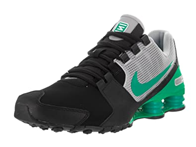 Nike Men's Shox Avenue LTR Black/Stadium Green/Wolf Grey Running Shoe 9 Men