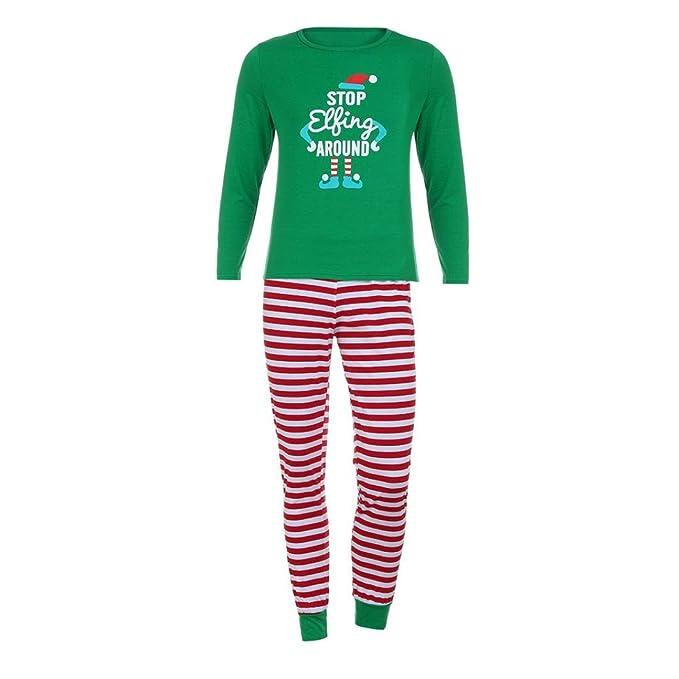 SMARTLADY Familia Navidad Pijama para - Madre - Padre - Niños -Bebe (S,