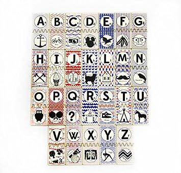 Amazon.com: Tree Hopper Toys - Hipster ABC Matching Tile Set: Toys ...