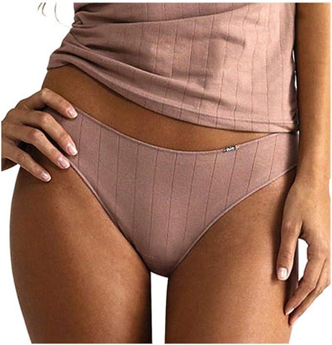 AVET - 33195 Braga Mujer Bikini Talle BAJO Algodon DESAGUJADO ...
