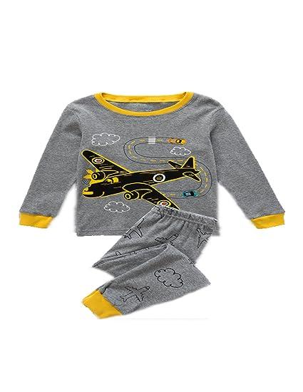 d24ab46784c2 Amazon.com  Mengmeng Dinosaur Pajamas Boys Children Christmas Cotton ...