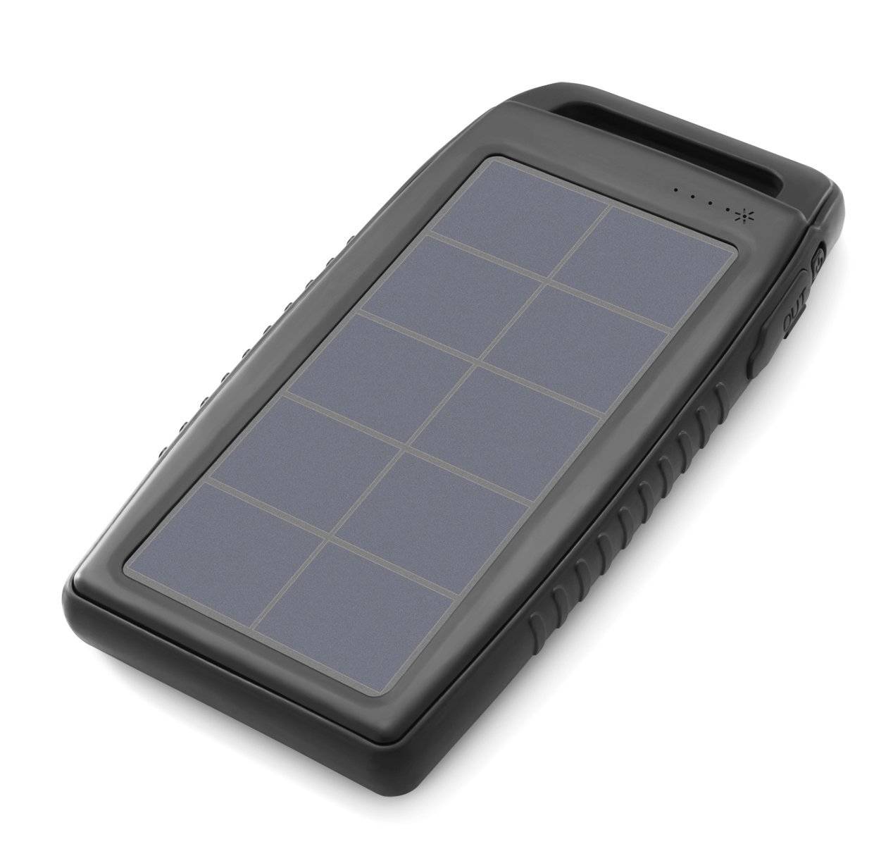 Nekteck Solar Charger 10000mAh Rain-Resistant Dirt/Shockproof Dual USB Port Portable Charger Battery with High-Efficiency SunPower Solar Panel Backup Power Pack for All USB Supported Devices, Black by Nekteck