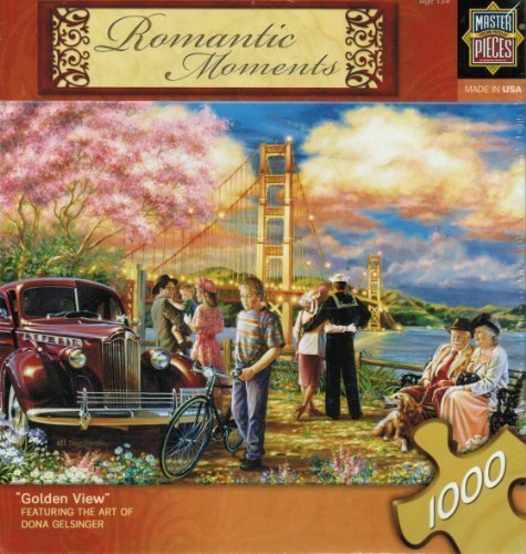 """Romantic Moments """"Golden View"""" by Dona Gelsinger 1000 piece Jigsaw Puzzle by Master Puzzles from Master Puzzles"""