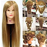 "Neverland Beauty Professional 26"" Super Long 70% Real Hair Training Head With Free Clamp Mannequin Manikin Doll For College and Professional Use"