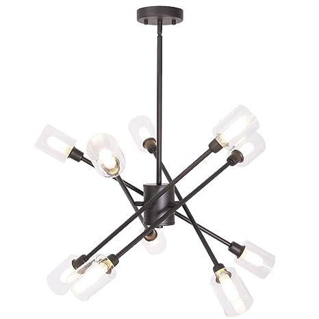 Amazon.com: MELUCEE Sputnik - Lámpara de araña con pantalla ...