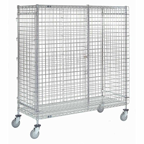 Wire Security Cart (Nexel Wire Security Truck, Chrome Finish, 24