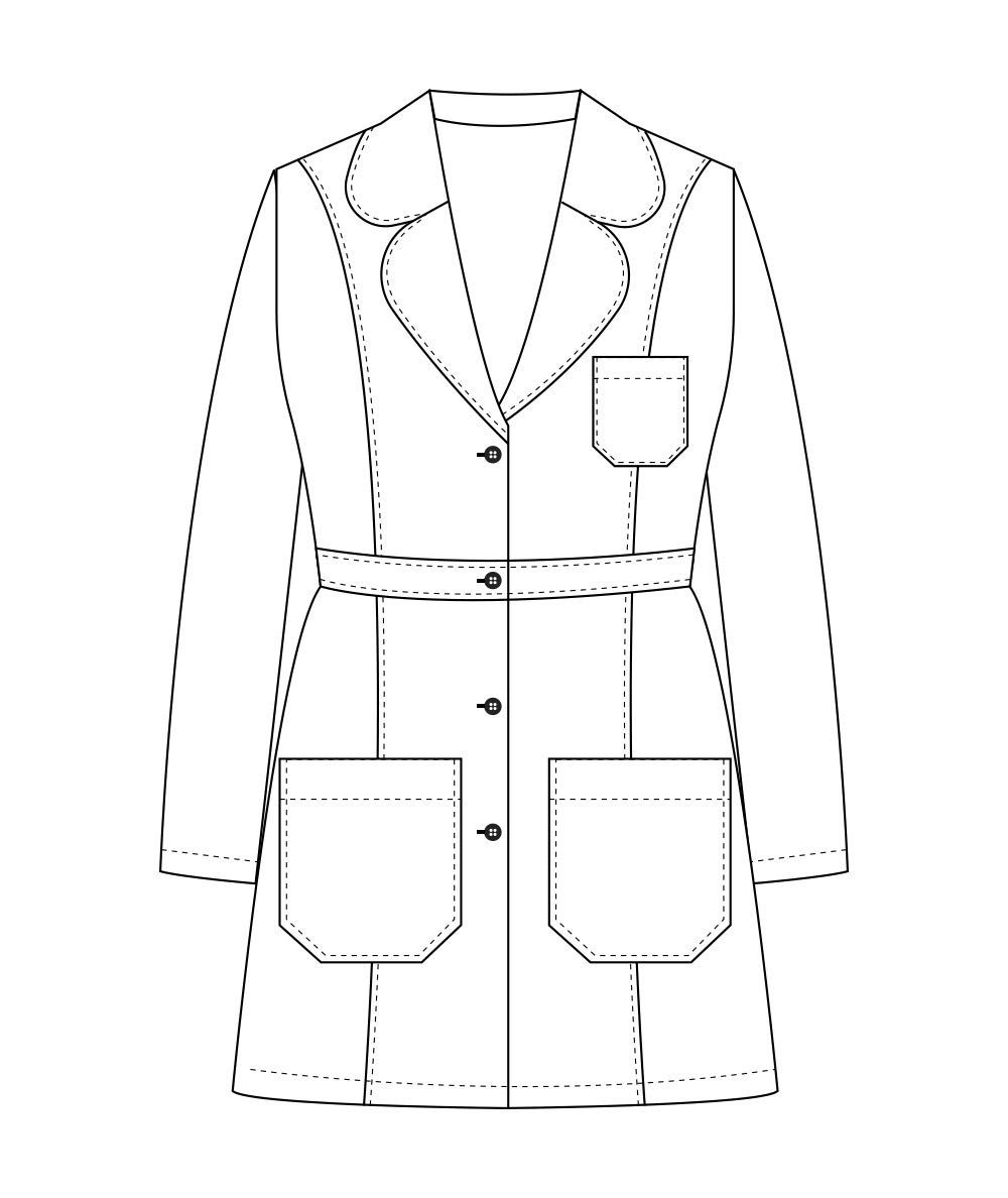 Panda Uniform Custom Women 34 Inch Medical Consultation Lab Coat-Ceil Blue-M by Panda Uniform (Image #4)