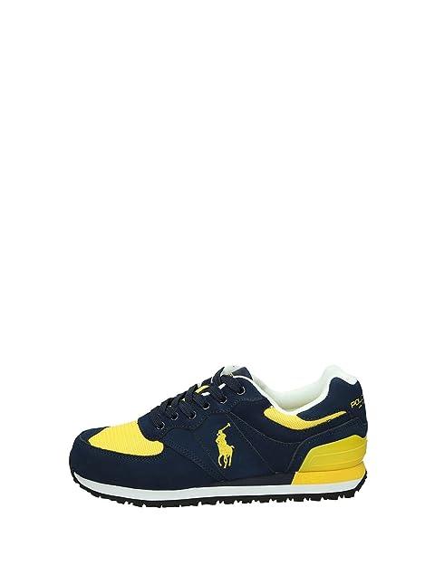 POLO RALPH LAUREN hombre bajas zapatillas de deporte A85 XZ4VT XY4VT XW4T1 Slaton PONY talla 44 Azul / amarillo: Amazon.es: Zapatos y complementos