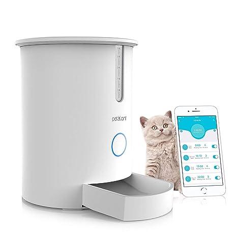 Reayou - Dispensador de alimentos automático para gatos inteligente, alimentador inteligente para perros, gatos