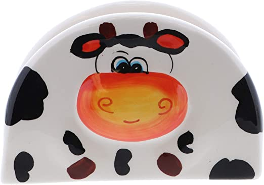 NEW Napkin Holder and Paper Towel holder set with the Cow design