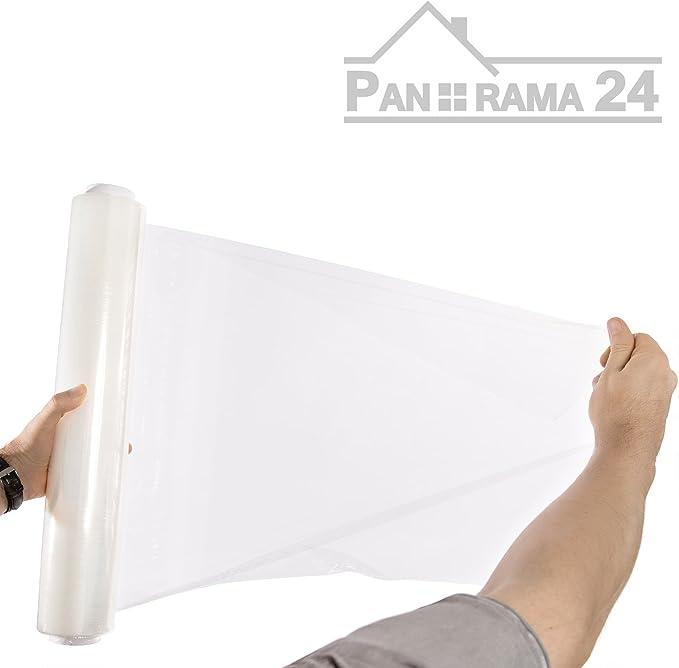 24 Rollen Verpackungsfolie 20 my 500 mm x 300 m Stretchfolie Palettenfolie
