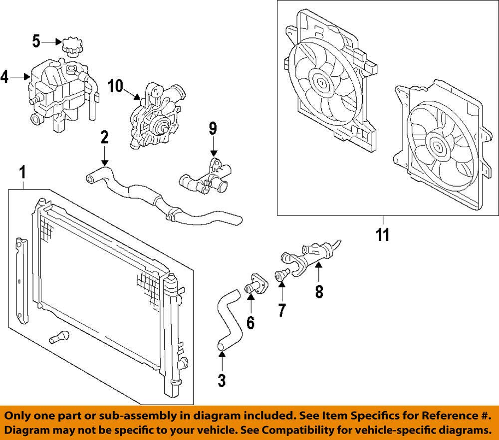 Mazda OEM 09-11 Tribute Cooling System-Cover ZZC415172 by Mazda