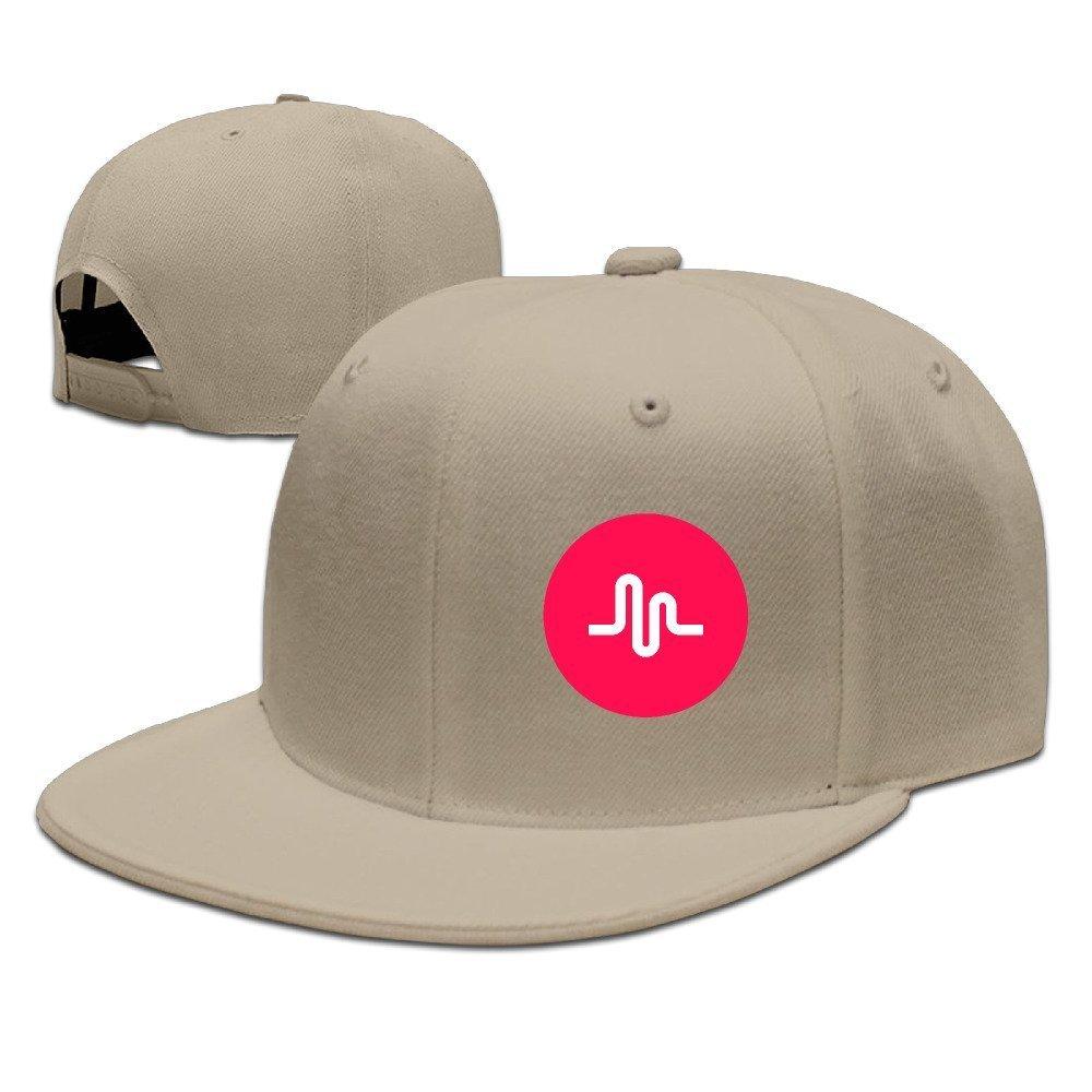 Hittings Hot Music LY Flat Brim Baseball Caps Hip Hop Hat Natural