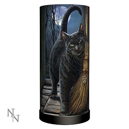 Un cepillo con Magick - Gato con lámpara de mesa de escoba ...