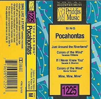 Sing Pocahontas Vocal Accompaniment 1225 Amazon Com Music
