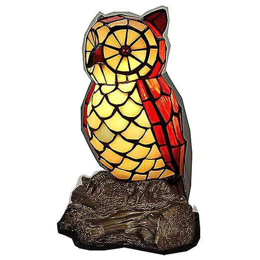 GYLNAI Lamparas Tiffany de Mesa Luz De Nocturna, lámpara de Mesa ...